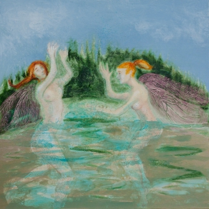 Fairies on the Forest Lake
