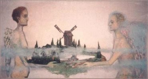 Angel with Landscape
