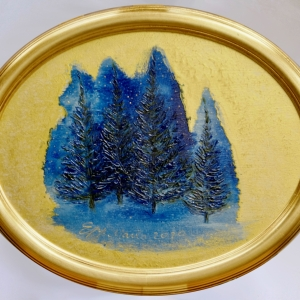 Spruce in the Blue Night