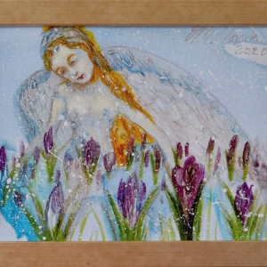 Angel with Crocuses